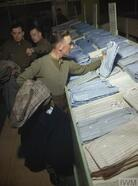 SCENES AT A DEMOBILISATION CENTRE IN BRITAIN, 1944