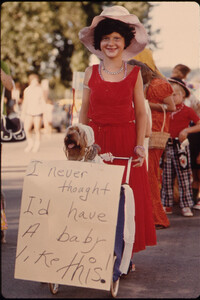 Participants in a Kiddies Parade, an Annual Event Held Early in the Evening During the Summer in New Ulm, Minnesota...
