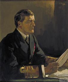 Study for Admiral Sir David Beatty, GCB Reading the Terms of the Armistice to the German Delegates,