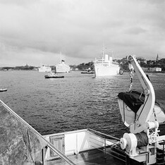 Cruise ships in Stockholm 1958