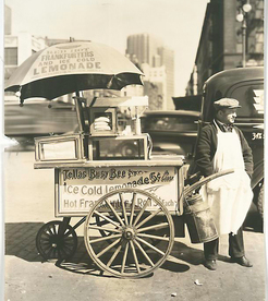 Hot Dog Stand, West St. and North Moore, Manhattan.