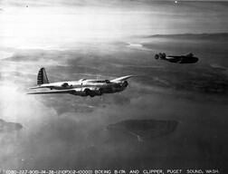 Boeing Y1B-17 with Boeing 314 Seattle 11-24-38