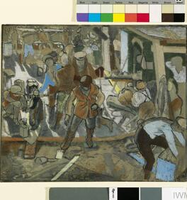 Study for 'Motor Transport Troops and German Prisoners. Chaulnes, Autumn 1918'
