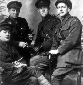 Four unidentified officers of (probably) the 36th or 40th Battalion