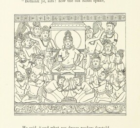 Image taken from page 56 of '[The Light of Asia; or, the Great Renunciation-Mahâbhinishkramana. Being the life and teaching of Gautama ... as told in verse by an Indian Buddhist. By E. Arnold, etc.]'